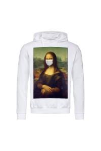Толстовка чоловіча з капюшоном біла Мона Ліза m702