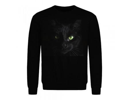 Світшот чоловічий чорний Кіт m606