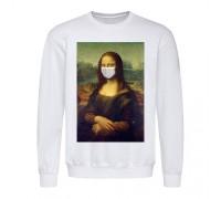 Свитшот мужской белый Мона Лиза m604