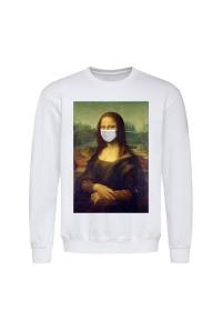 Світшот чоловічий білий Мона Ліза m604