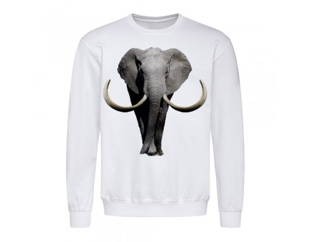 Світшот чоловічий білий Слон m605