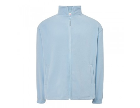 Флисовый свитер мужской голубой m542