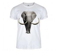 Футболка біла слон m156