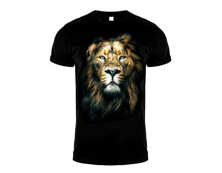 Футболка черная лев m152