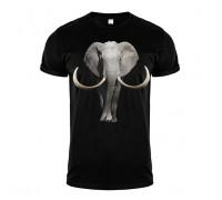 Футболка черная слон m150