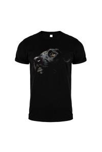 Футболка черная собака m146