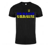 Футболка чорна Україна m143