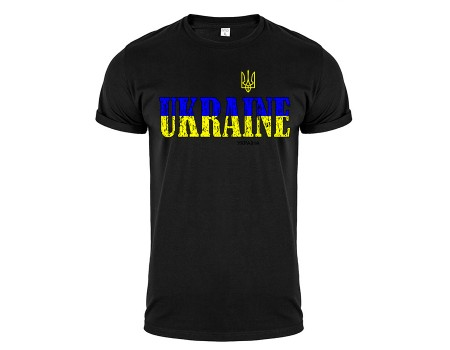 Футболка черная Украина m143