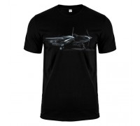 Футболка чорна Літак m170