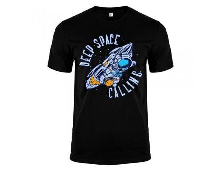 Футболка чорна Deep Space m181