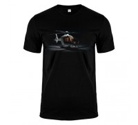 Футболка чорна вертоліт m184