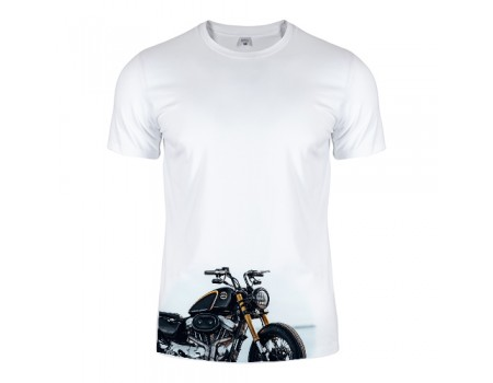 Футболка белая Motorcycle m192