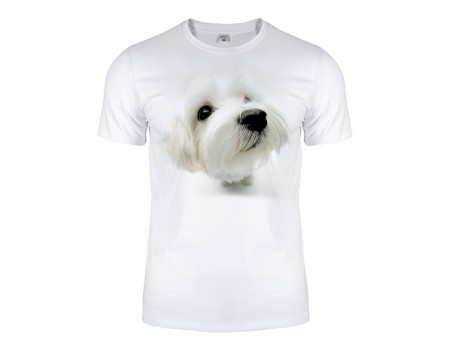Футболка біла Whitedog m201