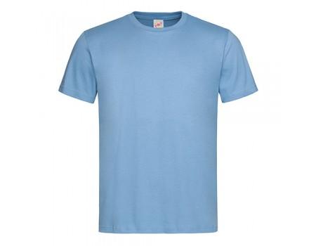 Футболка чоловіча з круглим вирізом блакитна m103