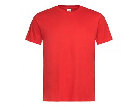 Футболка мужская с круглым вырезом красная m102