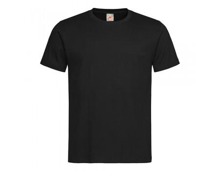 Футболка мужская с круглым вырезом черная m101