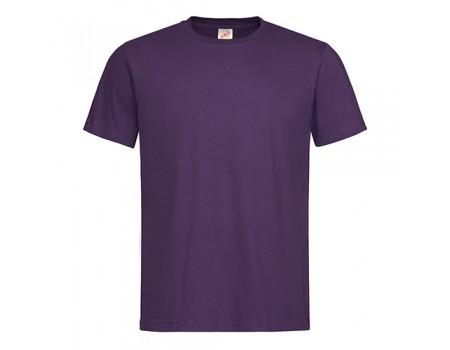 Футболка чоловіча з круглим вирізом фіолетова m115