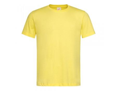 Футболка чоловіча з круглим вирізом лимонна m110