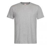 Футболка мужская с круглым вырезом серый меланж m113