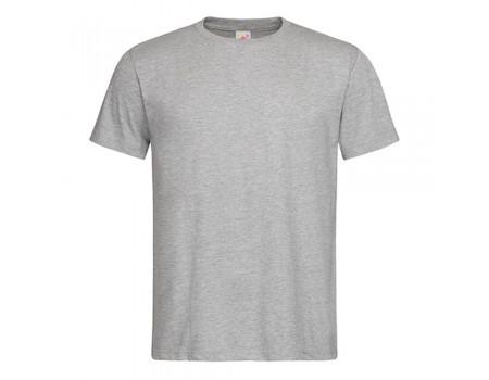 Футболка чоловіча з круглим вирізом сірий меланж m113
