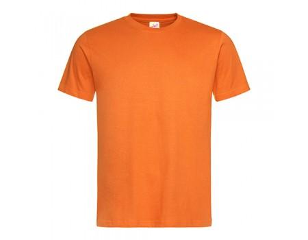 Футболка мужская с круглым вырезом оранжевая m111