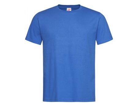 Футболка мужская с круглым вырезом синяя m105