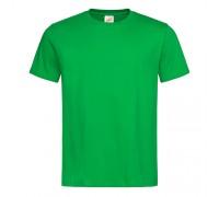 Футболка чоловіча з круглим вирізом зелена m114