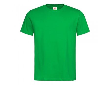 Футболка мужская с круглым вырезом зеленая m114