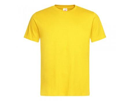 Футболка мужская с круглым вырезом желтая m112