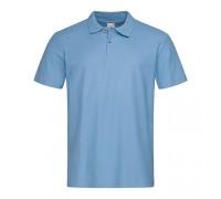 Футболка Поло мужская голубое m332