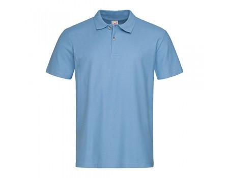 Футболка Поло чоловіча блакитне m332