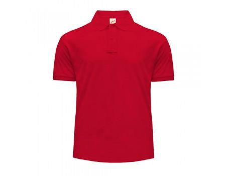 Поло чоловіче з манжетами на рукавах червоне m211