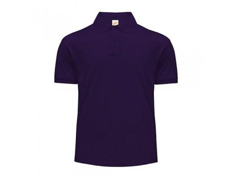 Поло чоловіче з манжетами на рукавах фіолетове m205