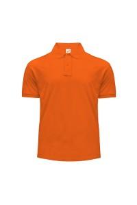 Поло чоловіче з манжетами на рукавах помаранжеве m207