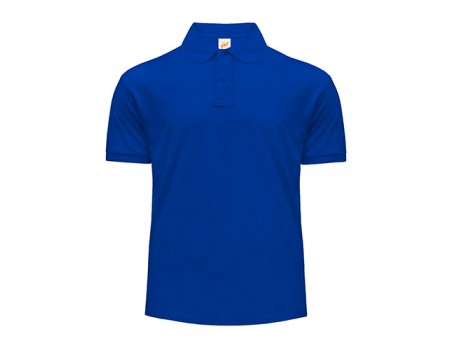 Поло мужское с манжетами на рукавах синее m203