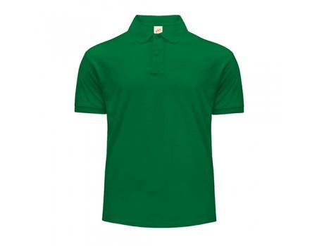 Поло чоловіче з манжетами на рукавах зелене m216