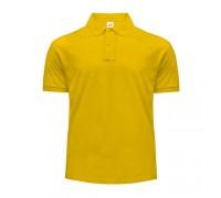 Поло мужское с манжетами на рукавах желтое m202