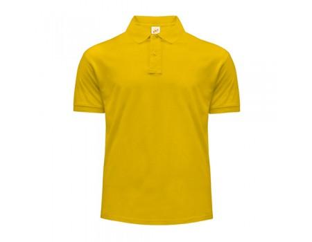 Поло чоловіче з манжетами на рукавах  жовте m202