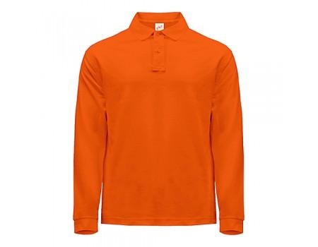 Поло мужское с длинным рукавом оранжевая m421