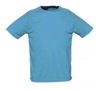 Футболка чоловіча спортивна блакитна m171