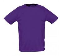 Футболка мужская спортивная фиолетовая m164
