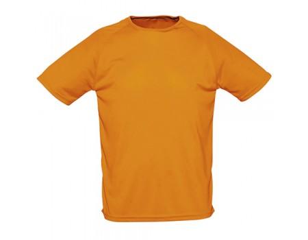Футболка мужская спортивная оранжевая m178