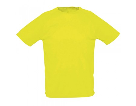 Футболка чоловіча спортивна жовта m168
