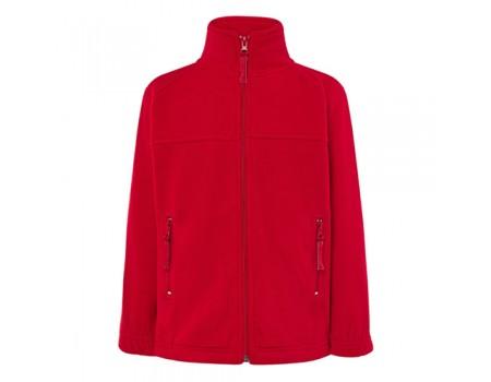 Флисовый свитер детский красный с207
