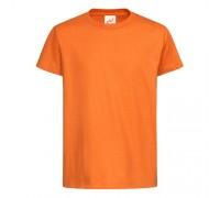 Футболка дитяча з круглим вирізом помаранчева c107
