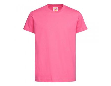 Футболка детская с круглым вырезом  розовая c106