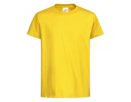 Футболка дитяча з круглим вирізом жовта c113