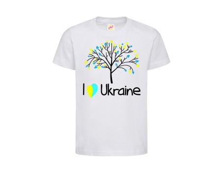 Футболка белая Дерево c158