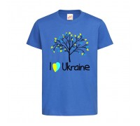 Футболка голубая Дерево c142