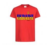 Футболка красная Украина c152